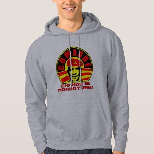 Comrade Obama Hooded Sweatshirt (hoodie)