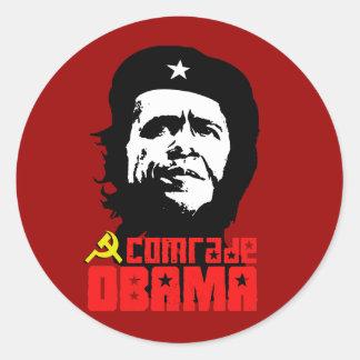 Comrade Obama Round Sticker