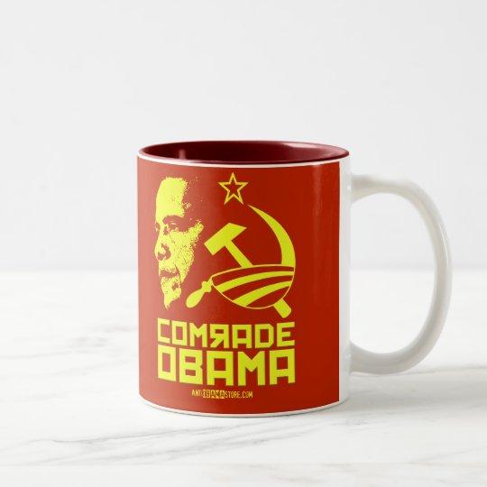 Comrade Obama Two-Tone Coffee Mug