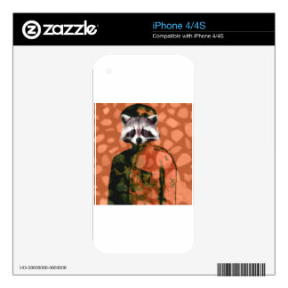 Comrade raccoon skin for the iPhone 4