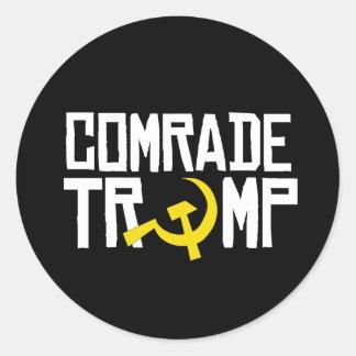 Comrade Trump -- Anti-Trump Design -- Classic Round Sticker