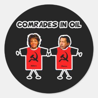 Comrades in Oil Stickers