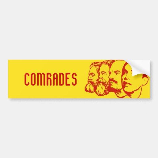 Comrades template bumper sticker