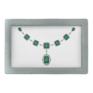 Comstock Emeralds Rectangular Belt Buckle