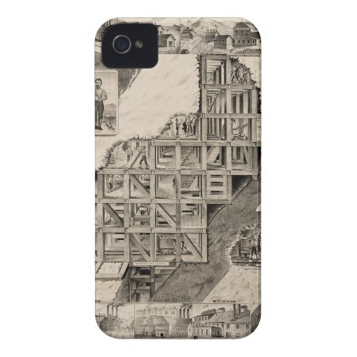 Comstock Lode Mine iPhone 4 Cover