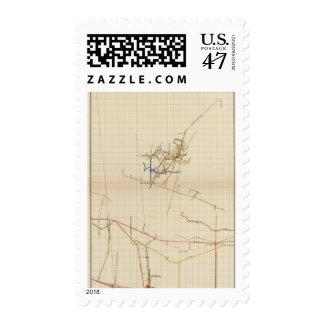Comstock Mine Maps Number II Postage Stamp