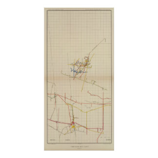 Comstock Mine Maps Number II Poster