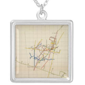 Comstock Mine Maps Number II Silver Plated Necklace