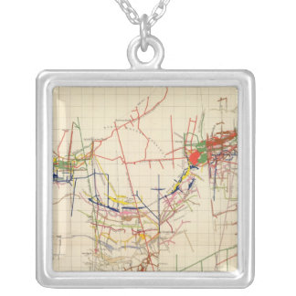 Comstock Mine Maps Number IV Silver Plated Necklace