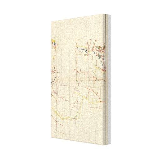 Comstock Mine Maps Number V Canvas Print