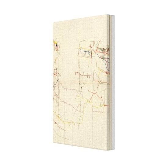 Comstock Mine Maps Number V Canvas Print