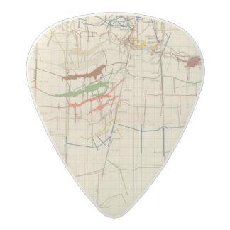 Comstock Mine Maps Number VI Acetal Guitar Pick