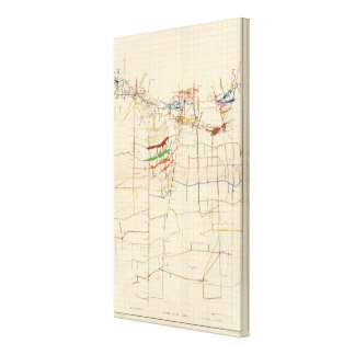 Comstock Mine Maps Number VI Canvas Print