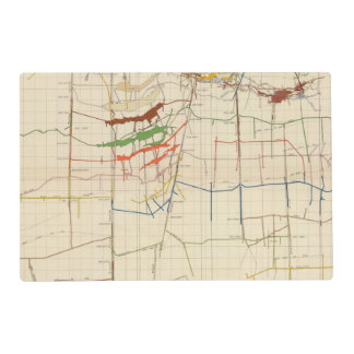 Comstock Mine Maps Number VI Placemat