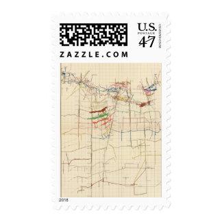 Comstock Mine Maps Number VI Postage Stamp