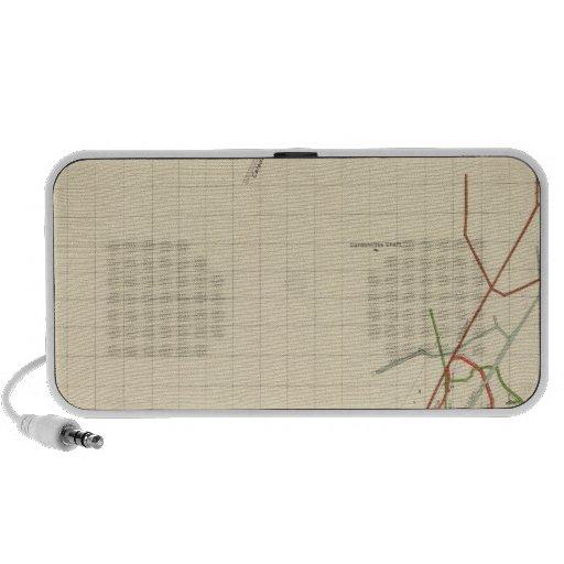Comstock Mine Maps Number VII iPod Speakers