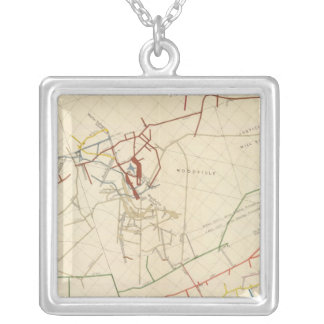 Comstock Mine Maps Number VIII Silver Plated Necklace