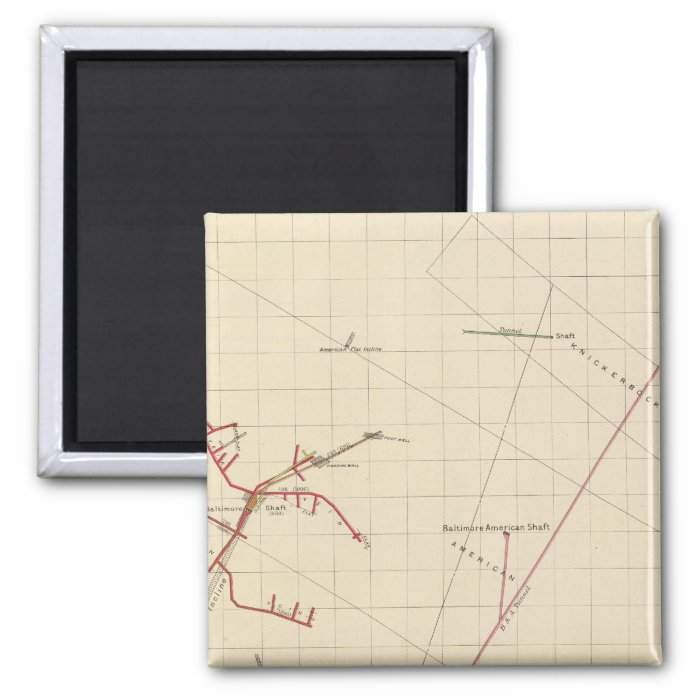 Comstock Mine Maps Number VIX 2 Inch Square Magnet