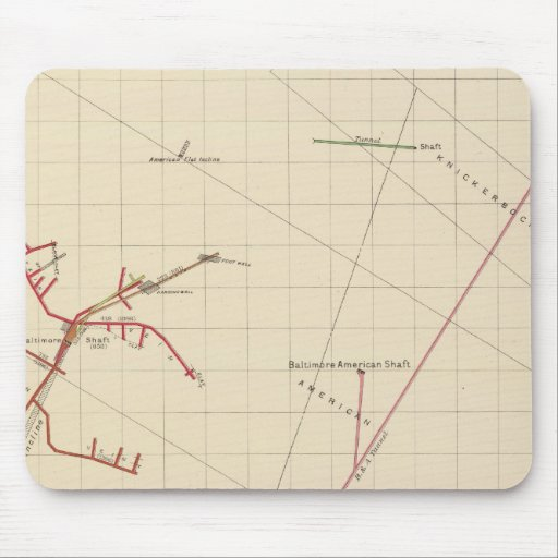Comstock Mine Maps Number VIX Mouse Pads