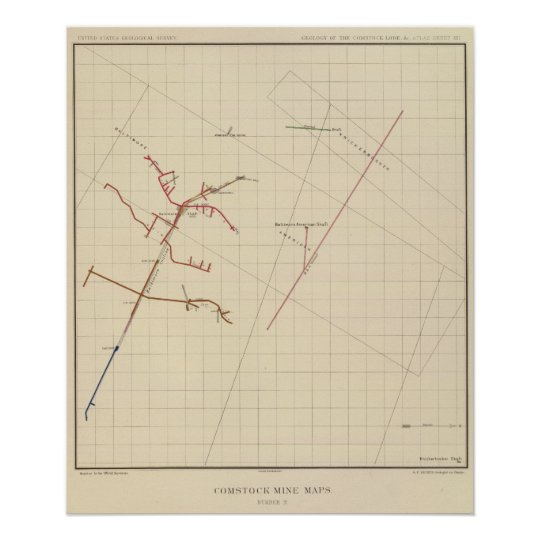 Comstock Mine Maps Number VIX Poster