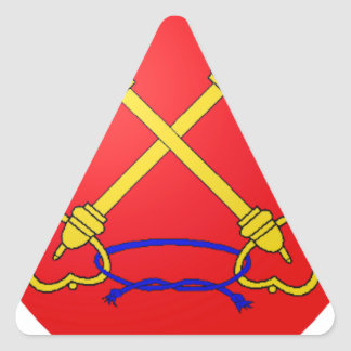 Comtat Venaissin (France) Coat of Arms Triangle Sticker
