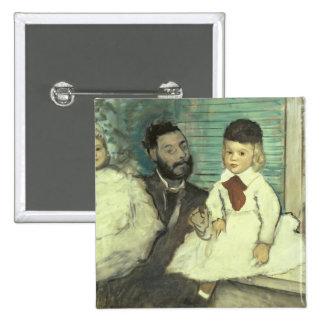 Comte Le Pic y sus hijos Pin Cuadrada 5 Cm