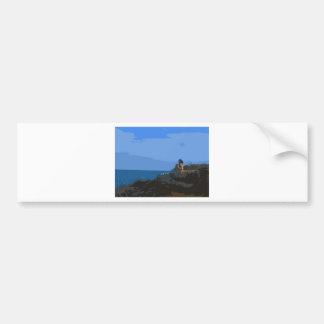Comtemplación de la calma del mar pegatina de parachoque