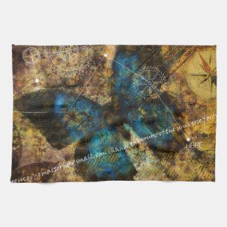 Comtemplación del efecto mariposa toalla