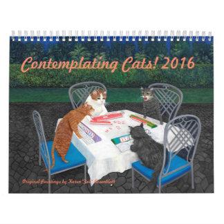 Comtemplando los gatos - calendario 2016