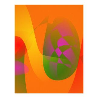 Comunicación anaranjada membrete a diseño