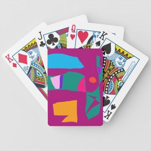 Comunicación de aire de la tierra de la hija de la baraja cartas de poker