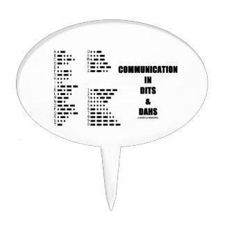 Comunicación en Dits y Dahs (código Morse) Decoración De Tarta