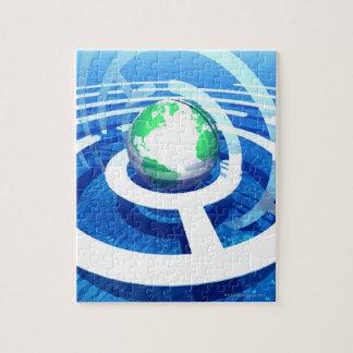 Comunicación global ordenador conceptual 2 puzzles