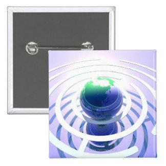 Comunicación global, ordenador conceptual pin cuadrado