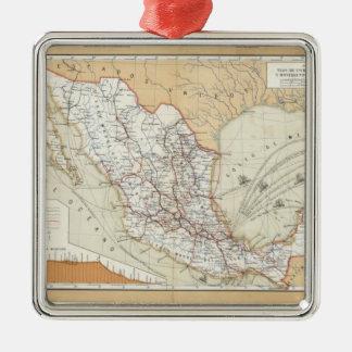 Comunicación y transporte de México Adorno Navideño Cuadrado De Metal