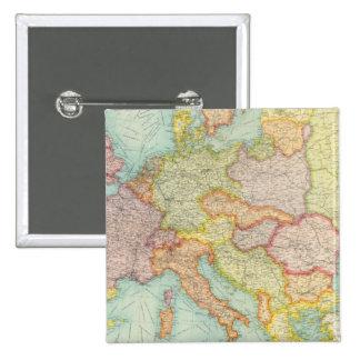 Comunicaciones compuestas de Europa Pin Cuadrado