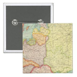 Comunicaciones de Europa Oriental Pin Cuadrado