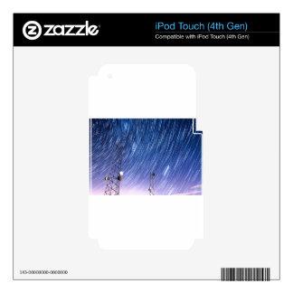 Comunicaciones de la estrella de la torre del skins para iPod touch 4G