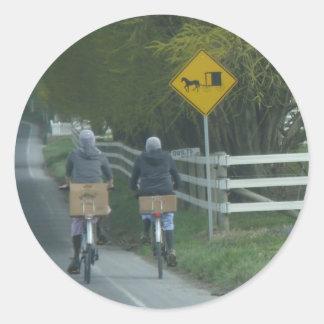 Comunidad de Amish Pegatina Redonda