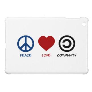 Comunidad del amor de la paz iPad mini protectores