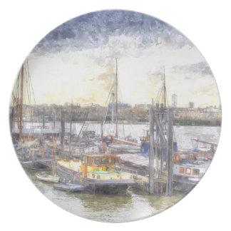 Comunidad del barco del río Támesis Plato De Cena