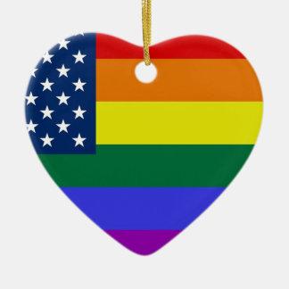 Comunidad gay adorno de cerámica en forma de corazón