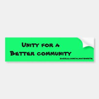 Comunidad unida pegatina para auto