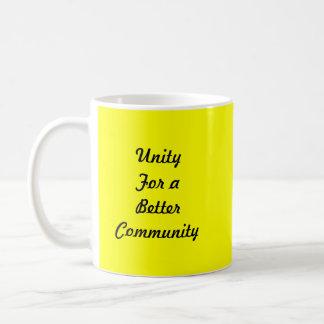 Comunidad unida taza básica blanca