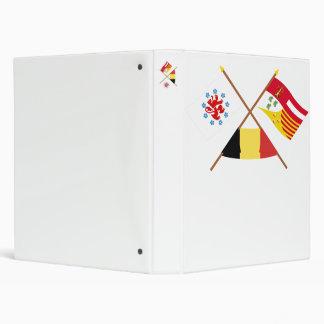 Comunidad y banderas de habla alemana cruzadas de carpeta 2,5 cm