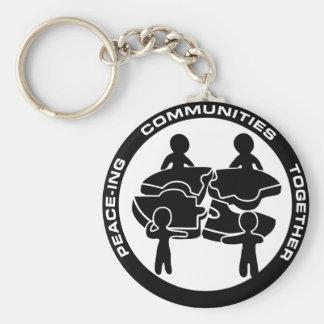 Comunidades de la Paz-ing junto Llavero Redondo Tipo Pin