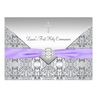 Comunión de la púrpura cruzada de los chicas del c