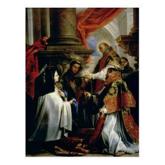 Comunión de St Teresa de Ávila c.1670 Postal