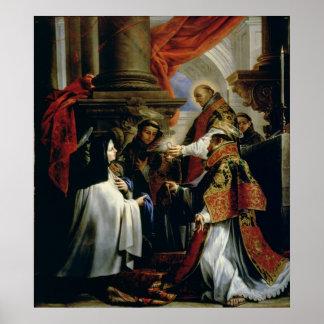 Comunión de St Teresa de Ávila c.1670 Póster