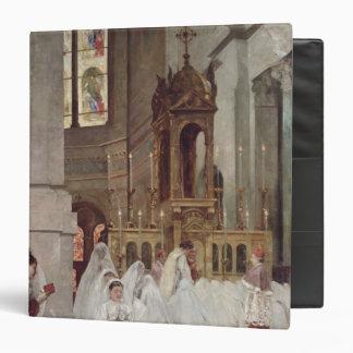 """Comunión en la iglesia de la trinidad, 1877 carpeta 1 1/2"""""""